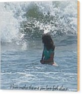 Surfing Eyes Wood Print by Laurence Oliver