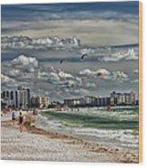 Surfs Up Wood Print by Boyd Alexander