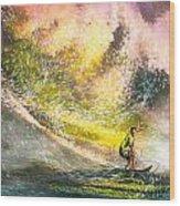 Surfscape 02 Wood Print