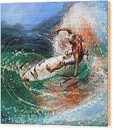Surfscape 03 Wood Print