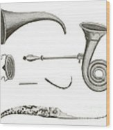 Surgical Instruments, 18th Century Wood Print