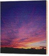 Surreal Sunrise Wood Print