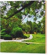 Surreal Walk Path Wood Print