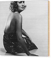 Susan Lenox-her Fall And Rise, Greta Wood Print