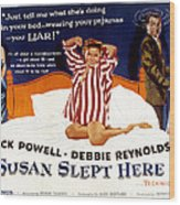 Susan Slept Here, Anne Francis, Debbie Wood Print by Everett