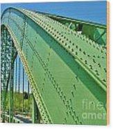 Suspension Bridge Wood Print
