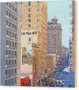 Sutter Street San Francisco Wood Print