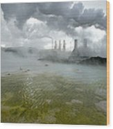 Svartsengi Geothermal Power Plant Wood Print