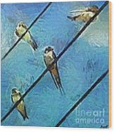 Swallows Goes To South Wood Print