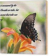 Swallowtail Card Wood Print
