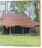 Swamp House Or Cracker Cabin Wood Print