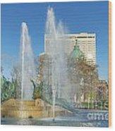 Swann Fountain At Logan's Circle Wood Print