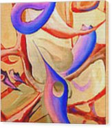 Swaying In Harmony 2 Wood Print