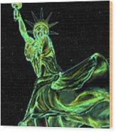 Sweat Liberty Wood Print