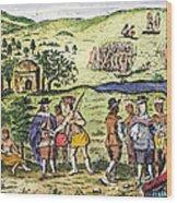 Swedish Colonists, 1702 Wood Print