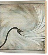 Sweeping Petals Wood Print