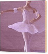 Sweet Ballerina Wood Print