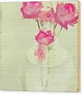 Sweet Fairy Rose Wood Print