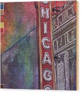 Sweet Home Chicago Wood Print