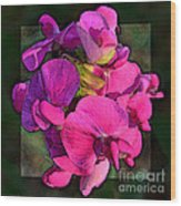 Sweet Pea Pop Out Photoart Square Wood Print