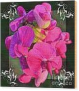 Sweet Pea Pop Out Square Wood Print