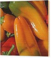 Sweet Peppers Wood Print