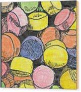 Sweet Tart Candy Wood Print
