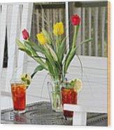 Sweet Tea And Tulips Wood Print