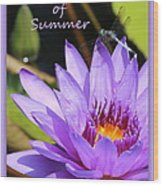 Sweetness Of Summer Wood Print