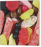 Sweets And Candy Mix Wood Print