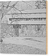Swift River Bridge Wood Print by Tim Murray