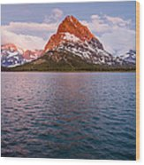 Swiftcurrent Lake At Dawn Wood Print