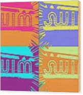 Swim Wood Print