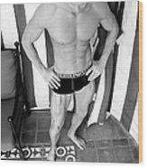 Swimmer 5 Wood Print
