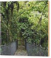 Swingbridge Wood Print