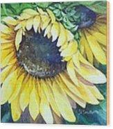 Swingin' Sunflowers Wood Print