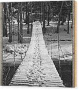 Swinging Cable Foot Bridge Wood Print