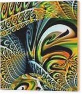 Swirling Colors Wood Print