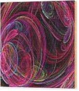 Swirling Energy Wood Print