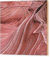 Swirling Sandstone Wood Print