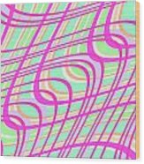Swirly Check Wood Print