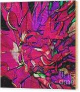 Swirly Fabric Flower Wood Print