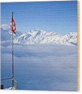 Swiss Alps Panorama Wood Print