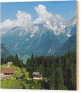 Swiss Alps Wood Print