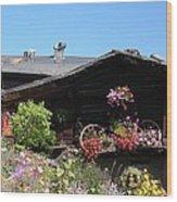 Swiss Chalet Interlaken Wood Print