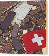 Swiss Chocolate Wood Print by Joana Kruse