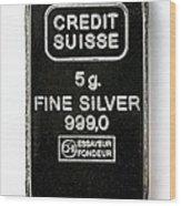 Swiss Silver Bar Wood Print