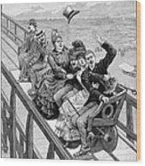 Switchback Railway, 1886 Wood Print
