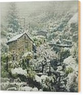 Switzerland In Winter Wood Print by Joana Kruse