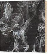 Swriling Smoke  Wood Print